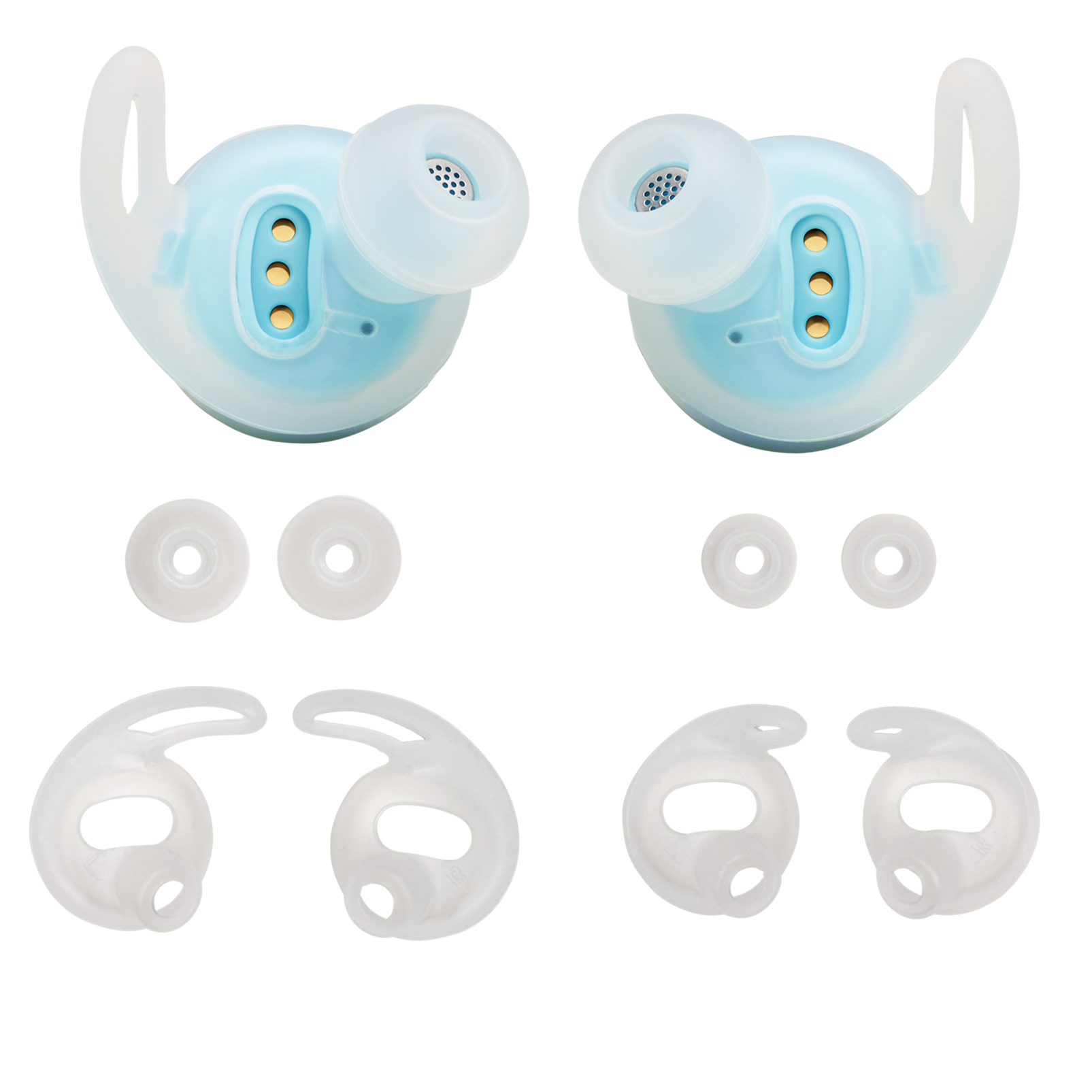 JBL REFLECT FLOW replacement kit - Teal - Ear buds, ear tips and enhancers - Hero