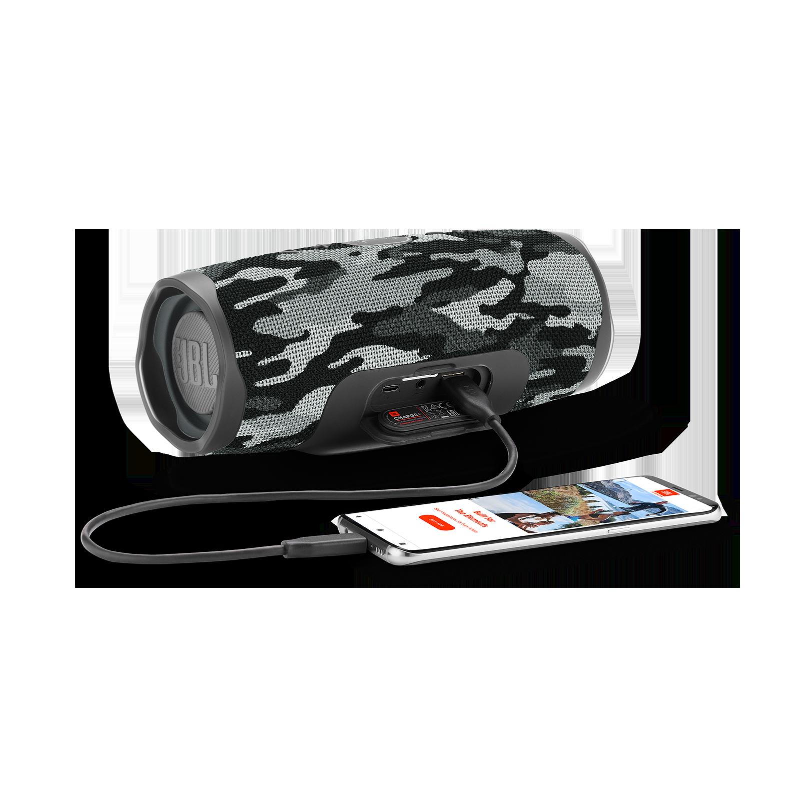 JBL Charge 4 - Black/White Camouflage - Portable Bluetooth speaker - Detailshot 4