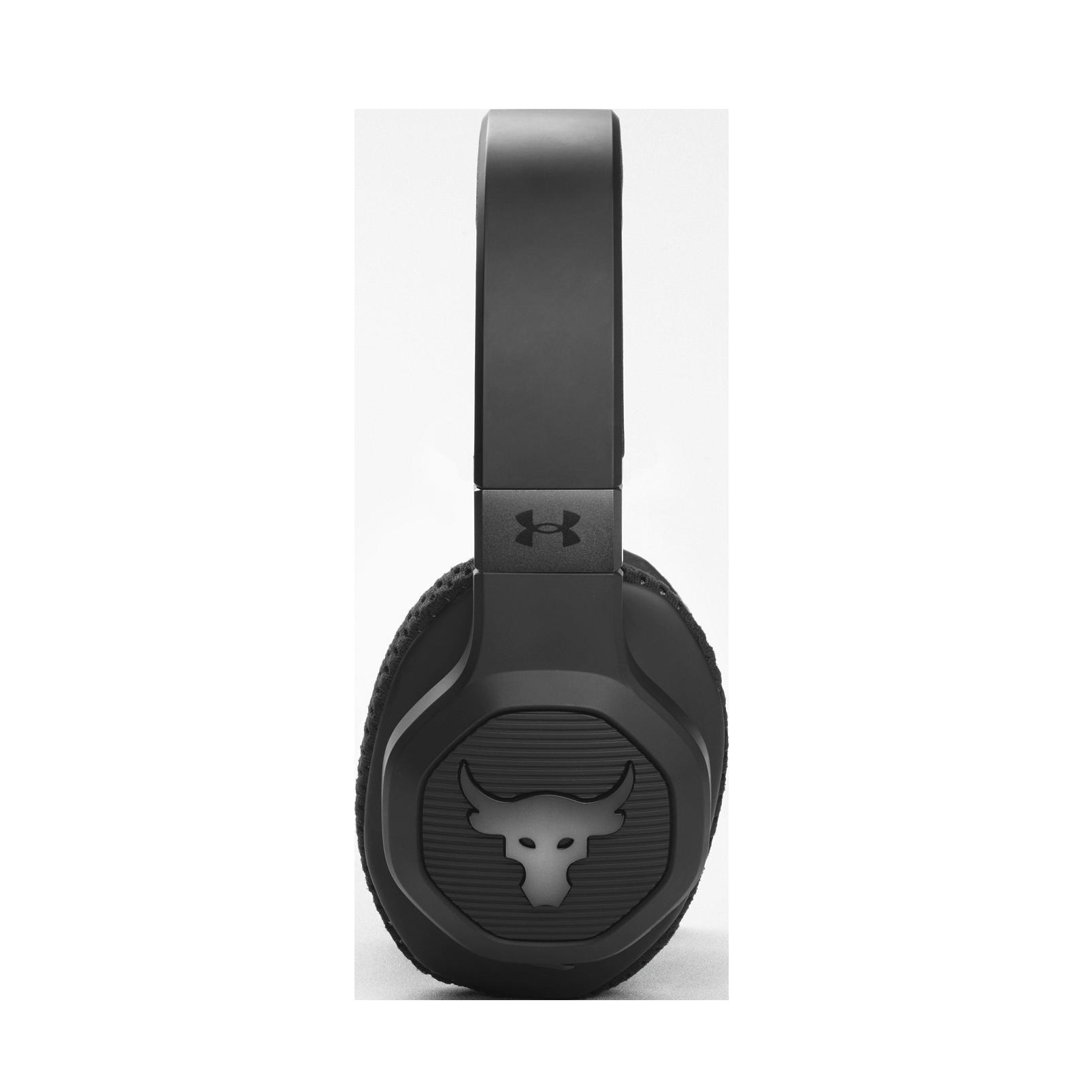 UA Project Rock Over-Ear Training Headphones - Engineered by JBL - Black - Over-Ear ANC Sport Headphones - Detailshot 3