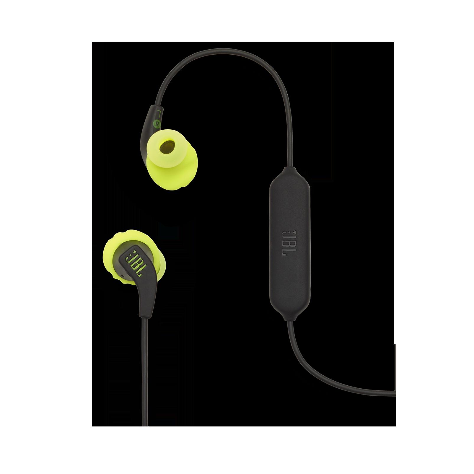 JBL Endurance RUNBT - Green - Sweatproof Wireless In-Ear Sport Headphones - Detailshot 1