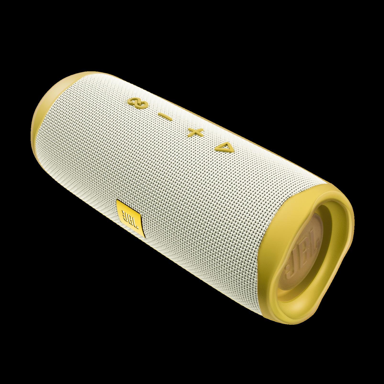 JBL Flip 5 Tomorrowland Edition - Gold/White - Portable Waterproof Speaker - Left