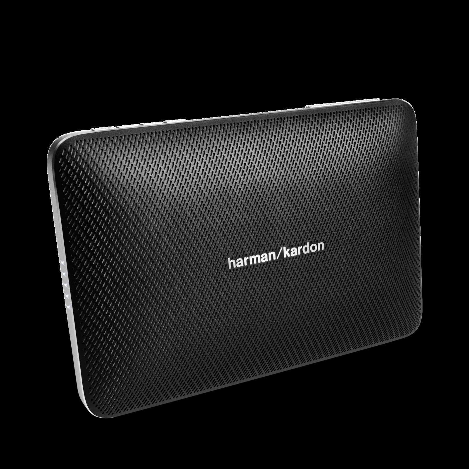 Esquire 2 - Black - Premium portable Bluetooth speaker with quad microphone conferencing system - Hero