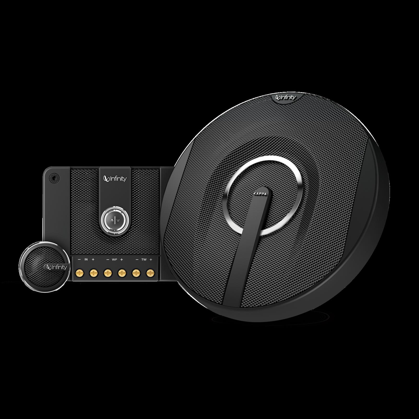 "Kappa 60.11cs - Black - 6-1/2"", two-way, component speaker system - Hero"
