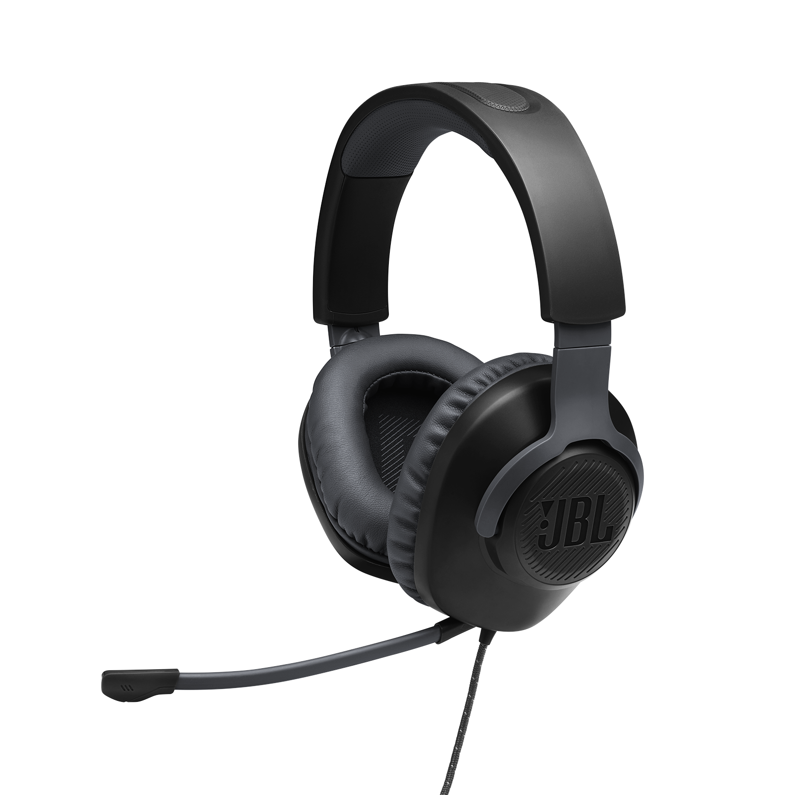 JBL Quantum 100 - Black - Wired over-ear gaming headset with a detachable mic - Detailshot 1