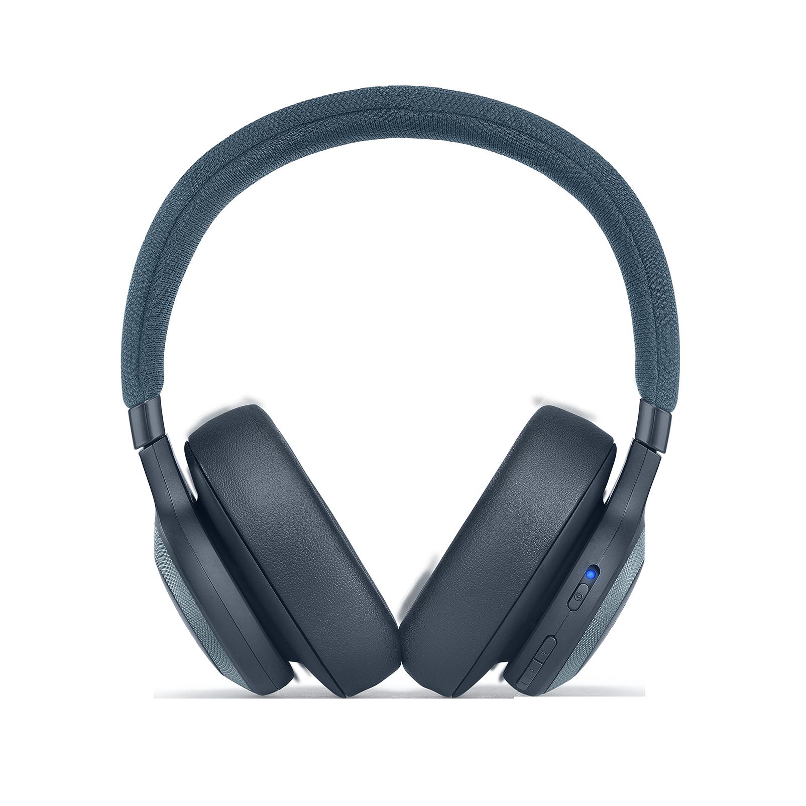 JBL E65BTNC - Blue - Wireless over-ear noise-cancelling headphones - Front