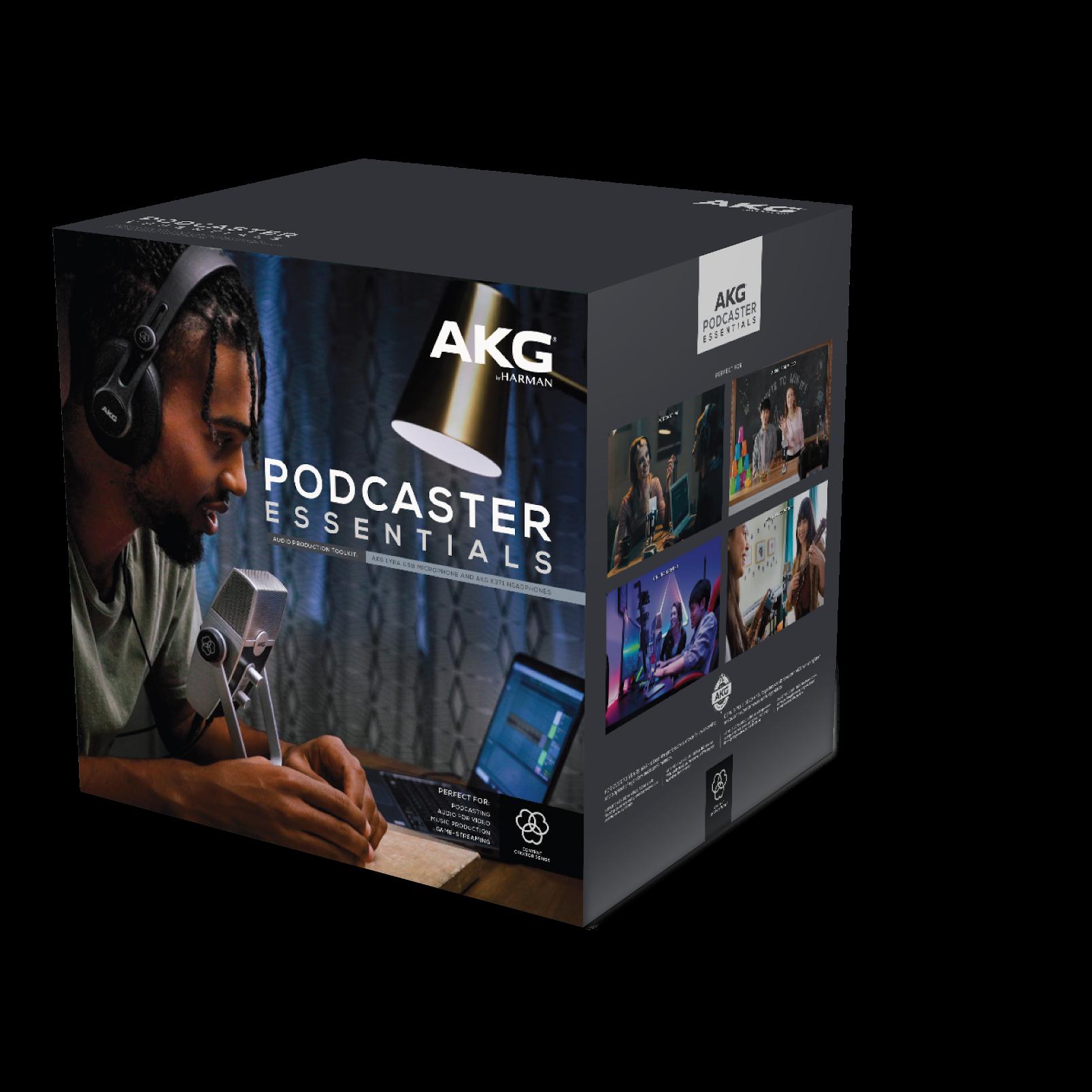 AKG Podcaster Essentials - Black / Gray - Audio Production Toolkit: AKG Lyra USB Microphone and AKG K371 Headphones - Detailshot 1
