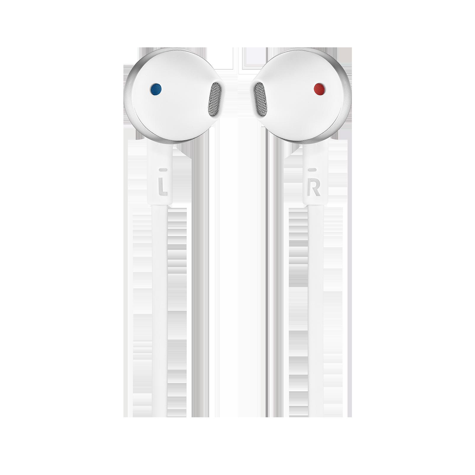 JBL TUNE 205BT - Silver - Wireless Earbud headphones - Front