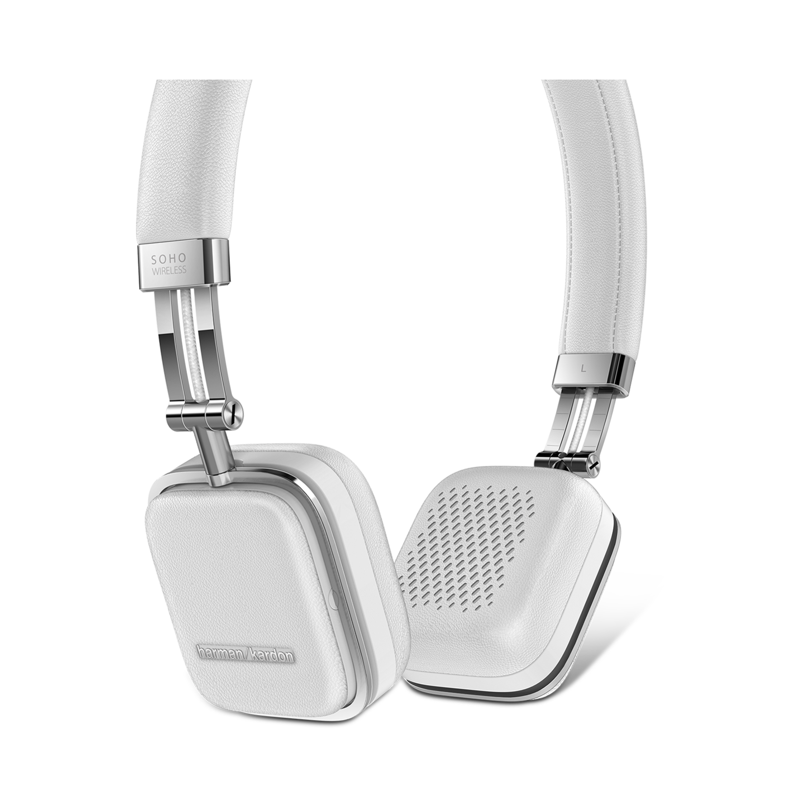 Soho Wireless - White - Premium, on-ear headset with simplified Bluetooth® connectivity. - Detailshot 1