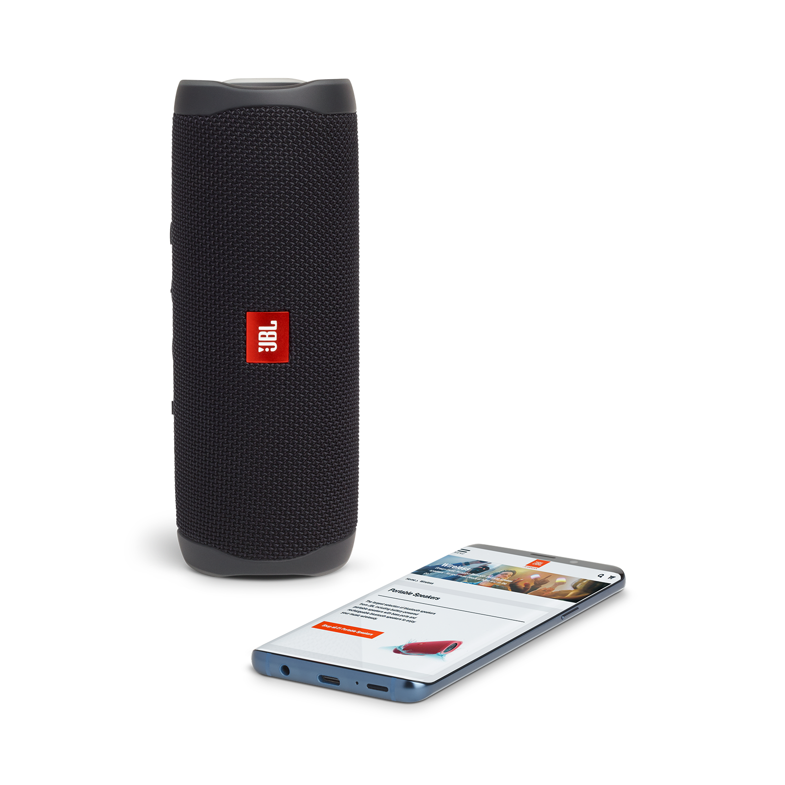 JBL FLIP 5 - Black Matte - Portable Waterproof Speaker - Detailshot 2