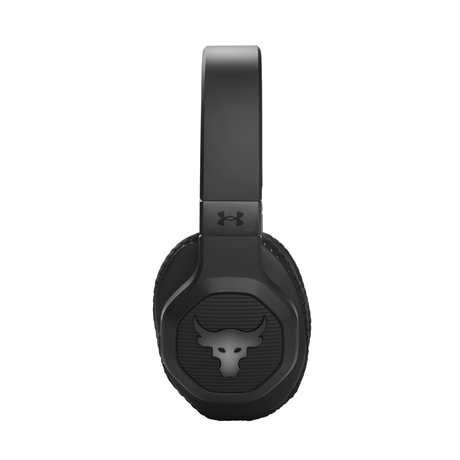 UA Project Rock Over-Ear Training Headphones - Engineered by JBL - Black - Over-Ear ANC Sport Headphones - Detailshot 4